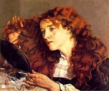 Gustave Coubert - Ragazza dai capellirossi.