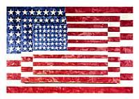 Jasper Johns - Tre bandiere.