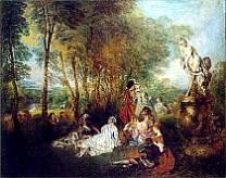 Jean-Antoine Watteau - I piaceri d'amore.