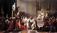 Vincenzo Camuccini - Morte di Giulio Cesare.