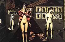 Paul Delvaux - Le nude rosa.