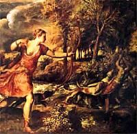 Tiziano Vecellio - Diana e Acteon